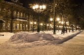 foto of prospectus  - Avenues of the big city at winter night - JPG