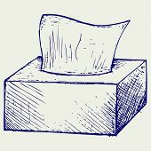 foto of tissue box  - White tissue box - JPG
