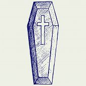 picture of coffin  - Black coffin - JPG