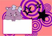 stock photo of rhino  - cute baby rhino girl background in vector format very easy to edit - JPG