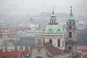 pic of nicholas  - Saint Nicholas Church in Mala Strana viewed from Petrin Hill in Prague - JPG