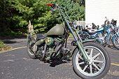 Custom Military Style Motorcycle