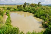 picture of wetland  - Wetland landscape in En Afek Nature Reserve northern Israel - JPG