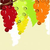 Plano de fundo estilizado uva
