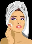 Woman Removes Makeup