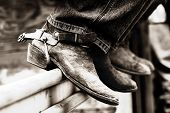Rodeo Cowboys Boots & Spurs