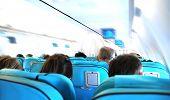 Business flight - airplane cabin - speed effect
