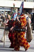 picture of mummer  - Bulgaria mummers parade 2008 - JPG