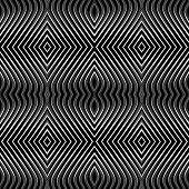 Seamless Geometric Pattern. Op Art.