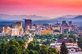 Asheville, North Carolina, USA at twilight. poster