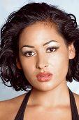 Face Of Beautiful Latino