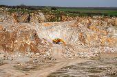 An excavator in mine