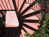 Outdoor Spiral Staircase poster