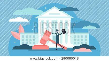 Supreme Court Vector Illustration Flat