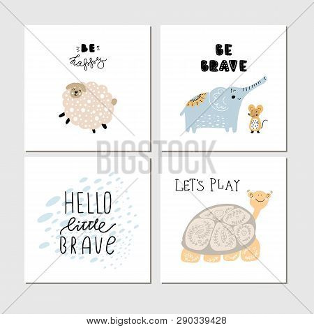 Collection Of Children Cards With