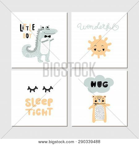Posters Setscollection Of Children Cards