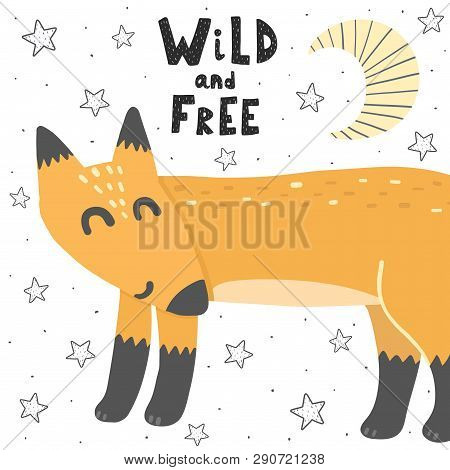 Wild And Free Vector Illustration