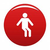 Stick Figure Stickman Icon Pictogram. Vector Simple Illustration Of Stickman Icon Isolated On White  poster