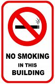 foto of inference  - No smoking sign for facility control - JPG