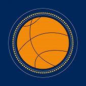 Basketball Icon Vector Flat Illustration. Basketball Club Logo. Basketball Emblem. The Symbol Of A B poster