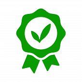 Stickers For Organic Food. Green Grunge Rubber Stamp. Modern Green Eco Badge. Sticker Vector Illustr poster