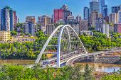 A Panoramic Summer View Of The City Of Edmonton poster