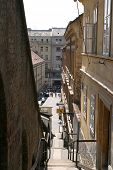Long narrow street in zagreb