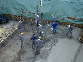 Workers on a construction site
