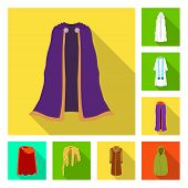 Vector Illustration Of Material And Clothing Symbol. Set Of Material And Garment Stock Symbol For We poster