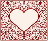 marco del corazón del patrón