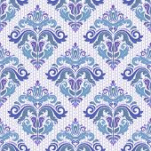 Classic Seamless Blue Pattern. Damask Orient Ornament. Classic Vintage Background poster