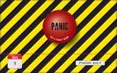 Postcard For Holiday - National Panic Day. Do It Right Now - An Industrial Reminder To Make A Panic  poster