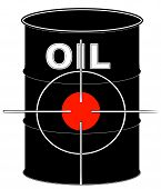 Barrel Black Oil W Crosshair Target