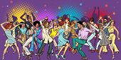 Party At The Club, Dancing Young People. Pop Art Retro Vector Illustration Vintage Kitsch poster