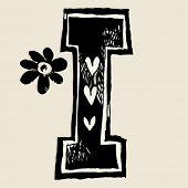 charcoal alphabet, doodle I