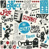 mezcla de jazz doodle