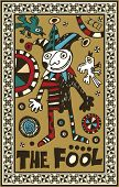 hand drawn tarot deck, major arcana, the fool