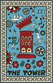 hand drawn tarot deck, major arcana, the raster version, the tower