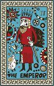 hand drawn tarot deck, major arcana, the raster version, the emperor