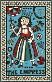hand drawn tarot deck, major arcana, the raster version, the empress