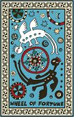 hand drawn tarot deck, major arcana, the raster version, the weel of fortune
