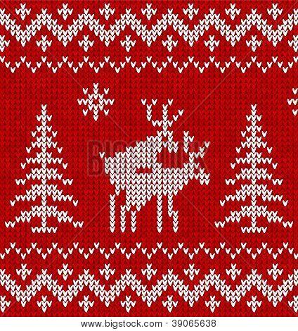 Схема вязания свитера с трахающимися оленями
