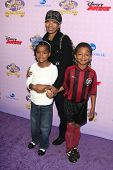 BURBANK - NOV 10: Angela Bassett, twins, Bronwyn Golden and Slater Josiah at the premiere of Disney Channels' 'Sofia The First: Once Upon a Princess' on November 10, 2012 in Burbank, California