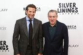 NEW YORK-NOV 12: Actor Bradley Cooper (L) and Robert DeNiro attend the premiere of