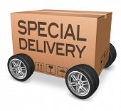 special delivery package shipment from online internet web shop
