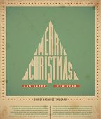 Retro  Christmas Greeting Cards, text