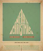 Retro  Christmas Greeting Cards, text