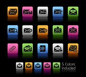 E-mail Icons // Color Box------It includes 5 color versions for each icon in different layers ------