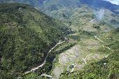 Berg Straße Banaue Luzon Philippinen