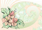Roze lelies, mozaïek tegel